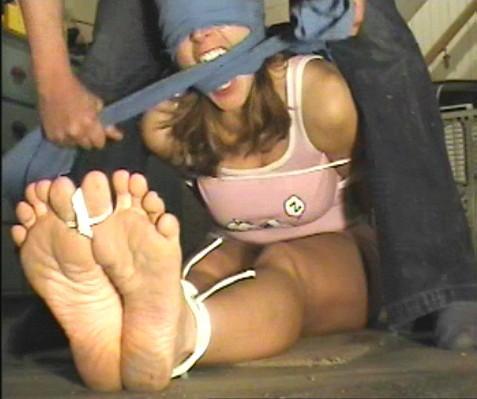 girls blindfolded and tickled
