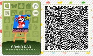 Animal Crossing-GRAND DAD Design QR