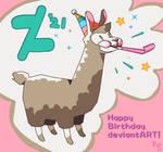 Birthday Llama Coloring