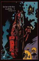 Jar Jar Binks but he's a Hellboy by Decepticoin