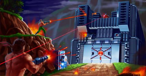 Contra - Gunner Wall by Decepticoin