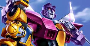 Transformers Animated - Starscream and Bumblebee