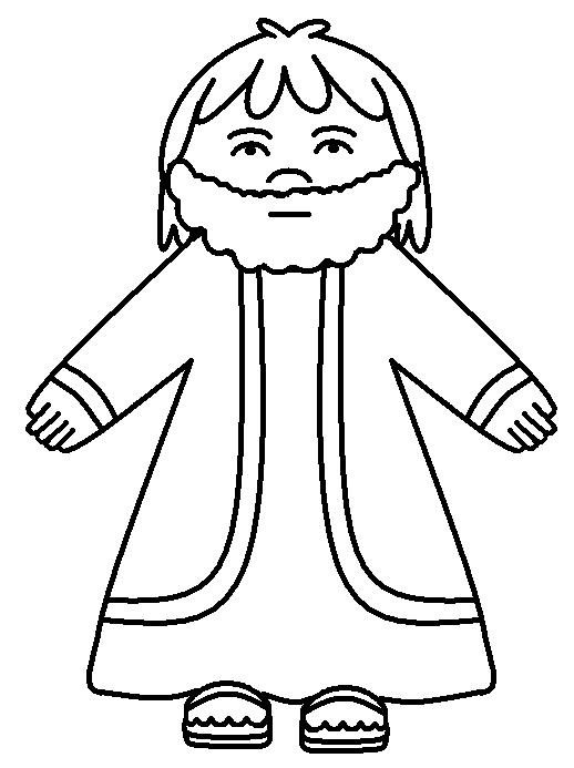 bible outline coloring pages - photo#7