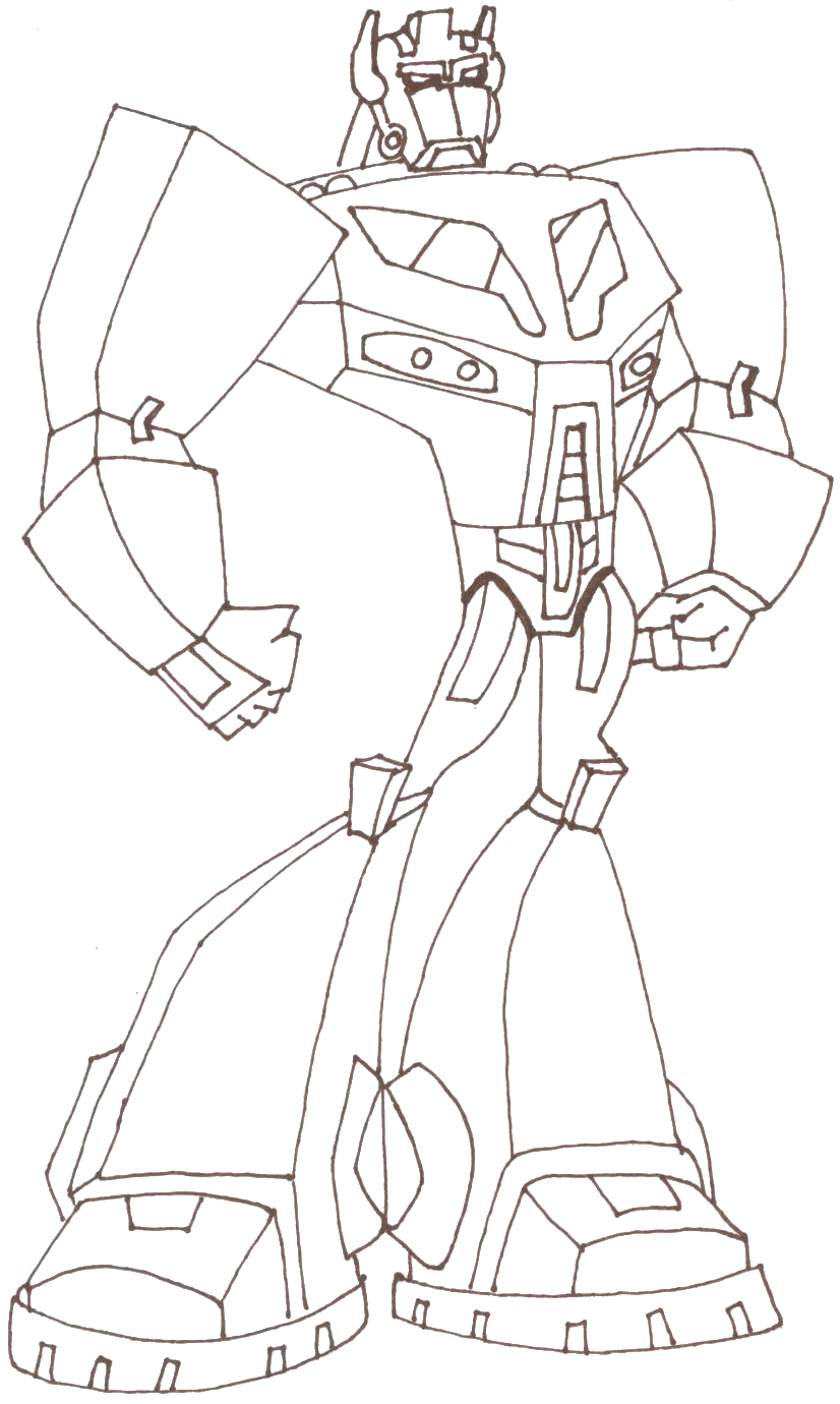 transformers animated optimas prime free coloring pages