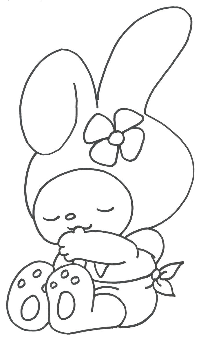 Hello Kitty Melody Coloring Pages : My melody in rumpeldogskin by joyfulmusic on deviantart