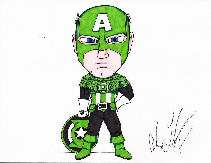 Green Lantern Captain America By Toonartist On Deviantart