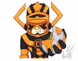 Orange Lantern Galactus by toonartist