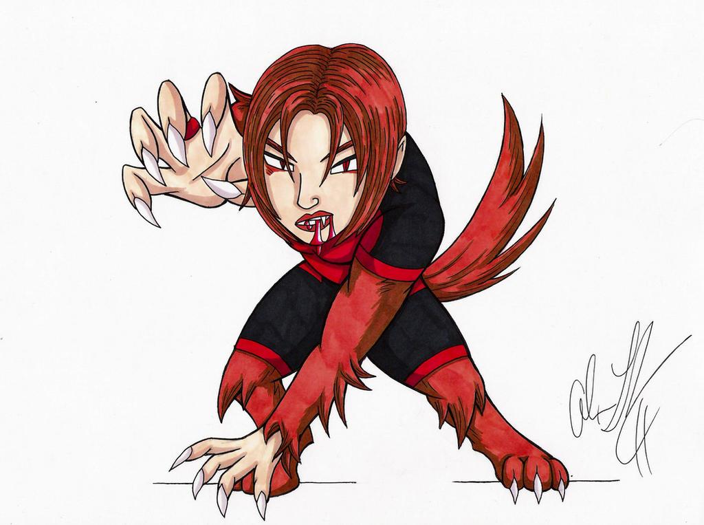 Red Lantern Wolfsbane by toonartist on deviantART
