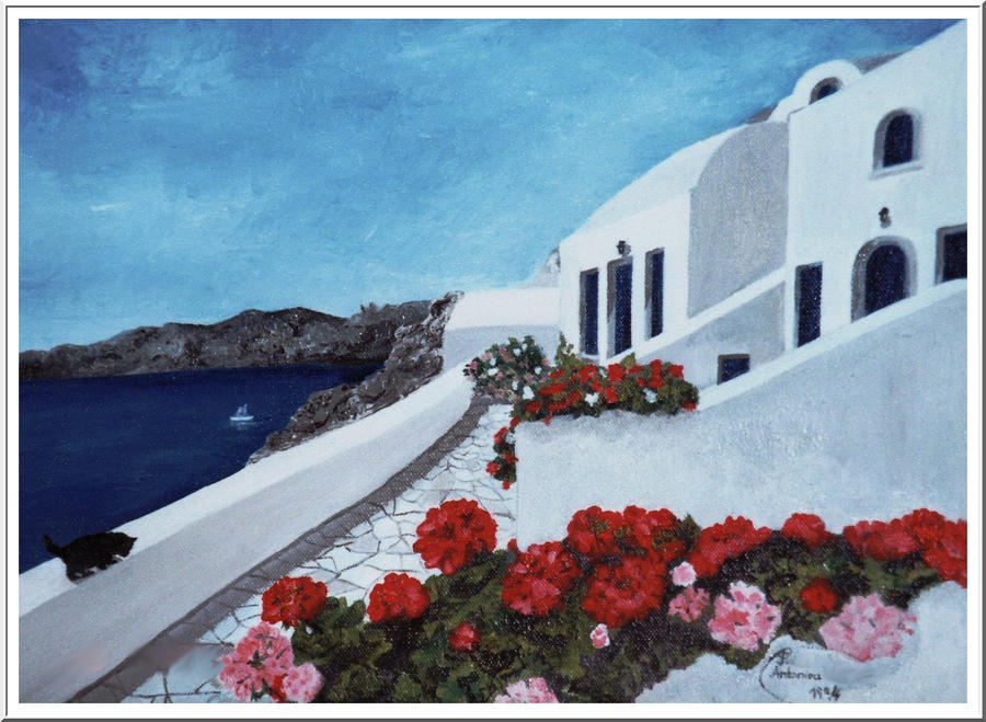 view of greek balcon by floriaiglenoir