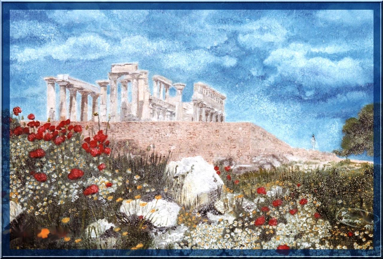 ...view on old greek temple... by floriaiglenoir