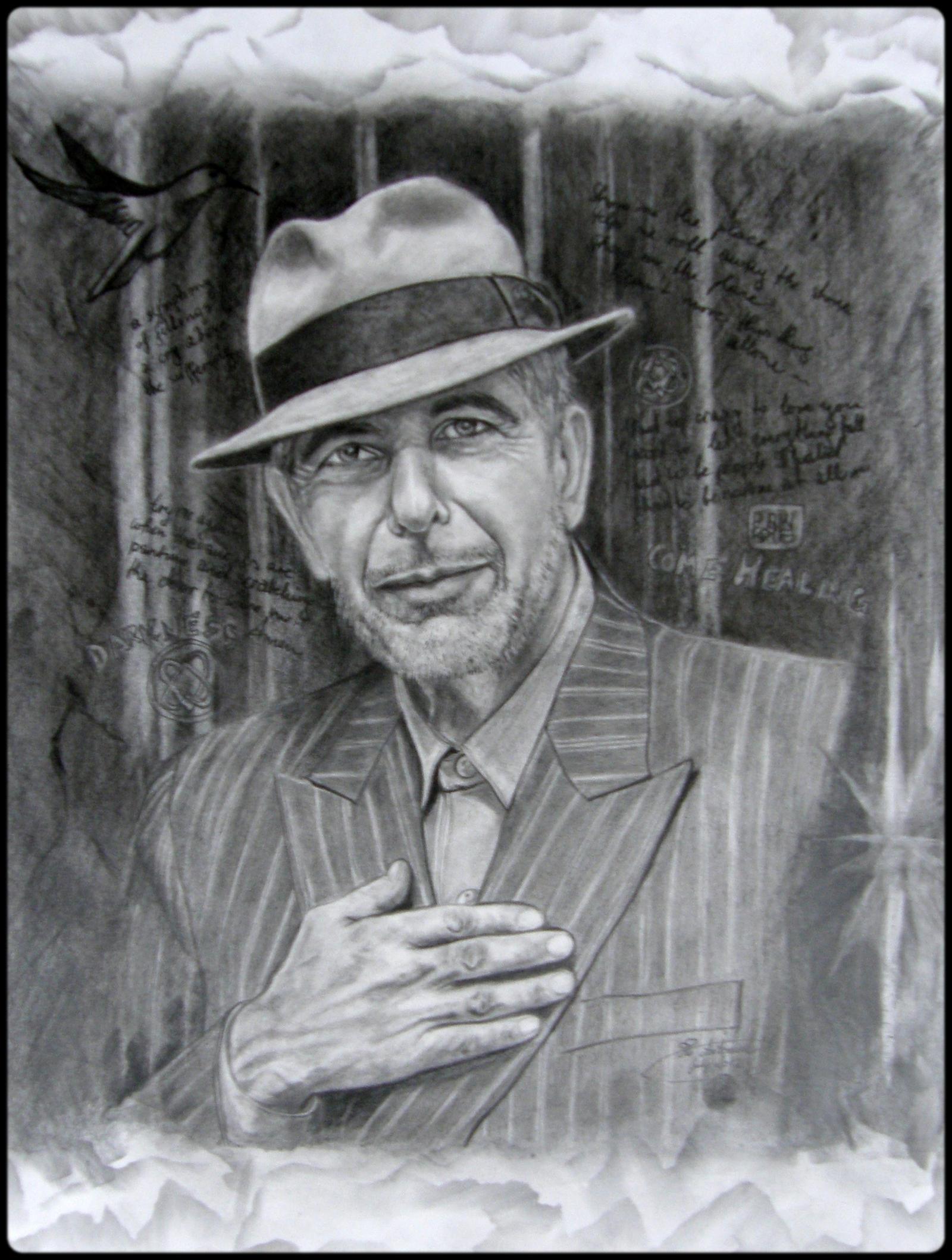 ...Leonard Cohen II... by floriaiglenoir