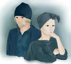 Effie and Haymitch by itsMarikko