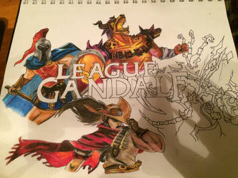 League of Gandalf Colored WIP by The1DK
