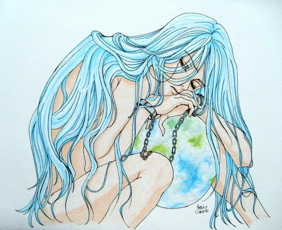 Sad Angel Drawing Sad Angel by Saeleth