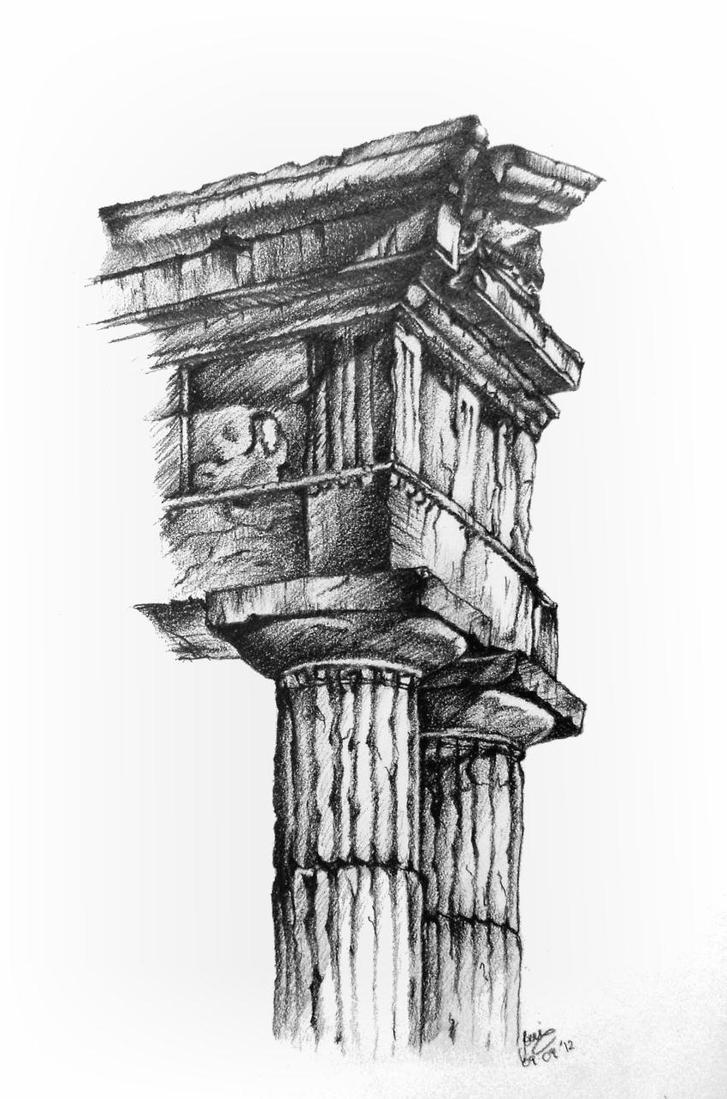 Greek Architecture Doric columns by Saeleth