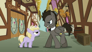 Discorded Whooves{facing Dinky}