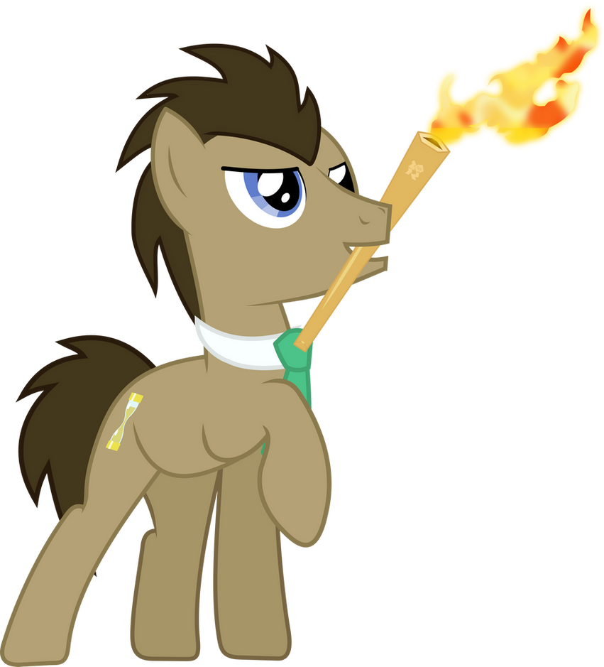Doctor Whooves{torch} by Peora