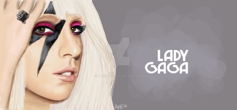 Lady Gaga Facebook Graffiti by alissavb