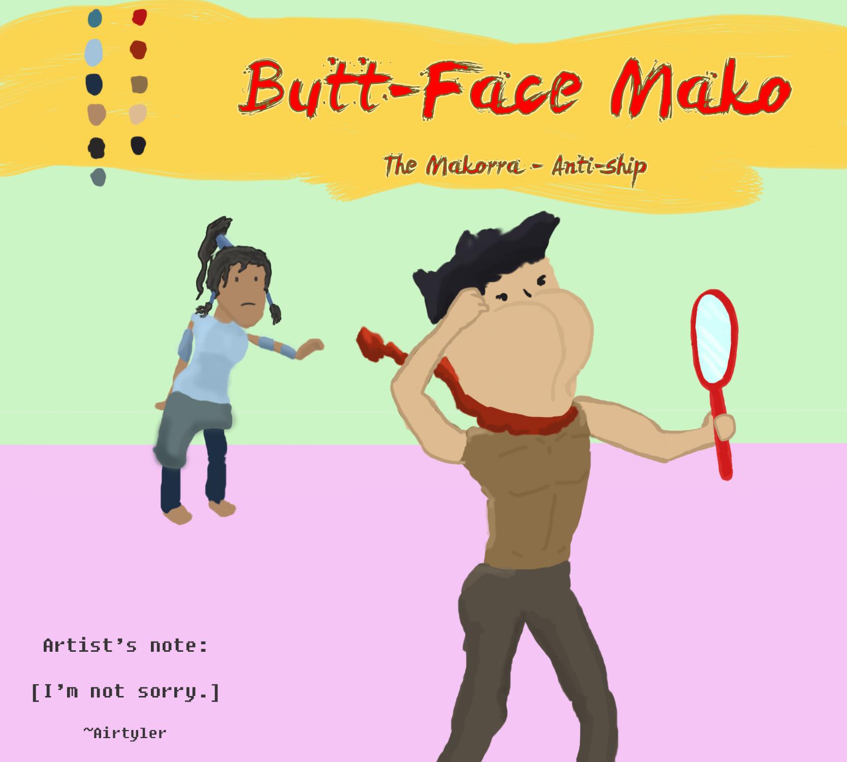Makorra - Butt Face Mako by AirTyler