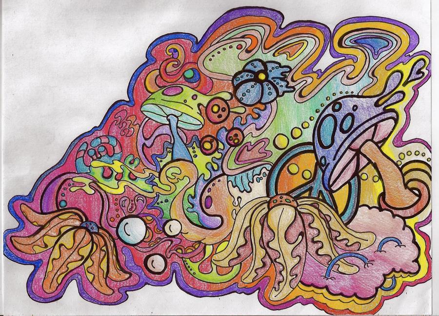 Trippy Man... by sketcheroftoast