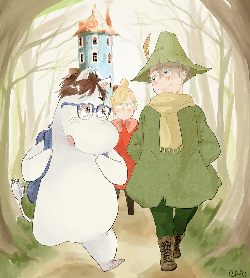 moomin x YOI by a-zebra-was-here