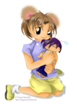 Iruka-hamster and doll