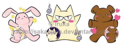 Ouran High Mascots badges