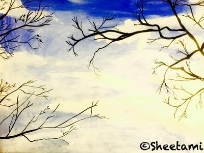 Tree and sky by Sheetami