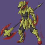 Haxorus Dragoon Gijinka