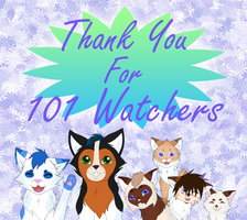 Thank You for 101 Watchers!!! by LULUVIP