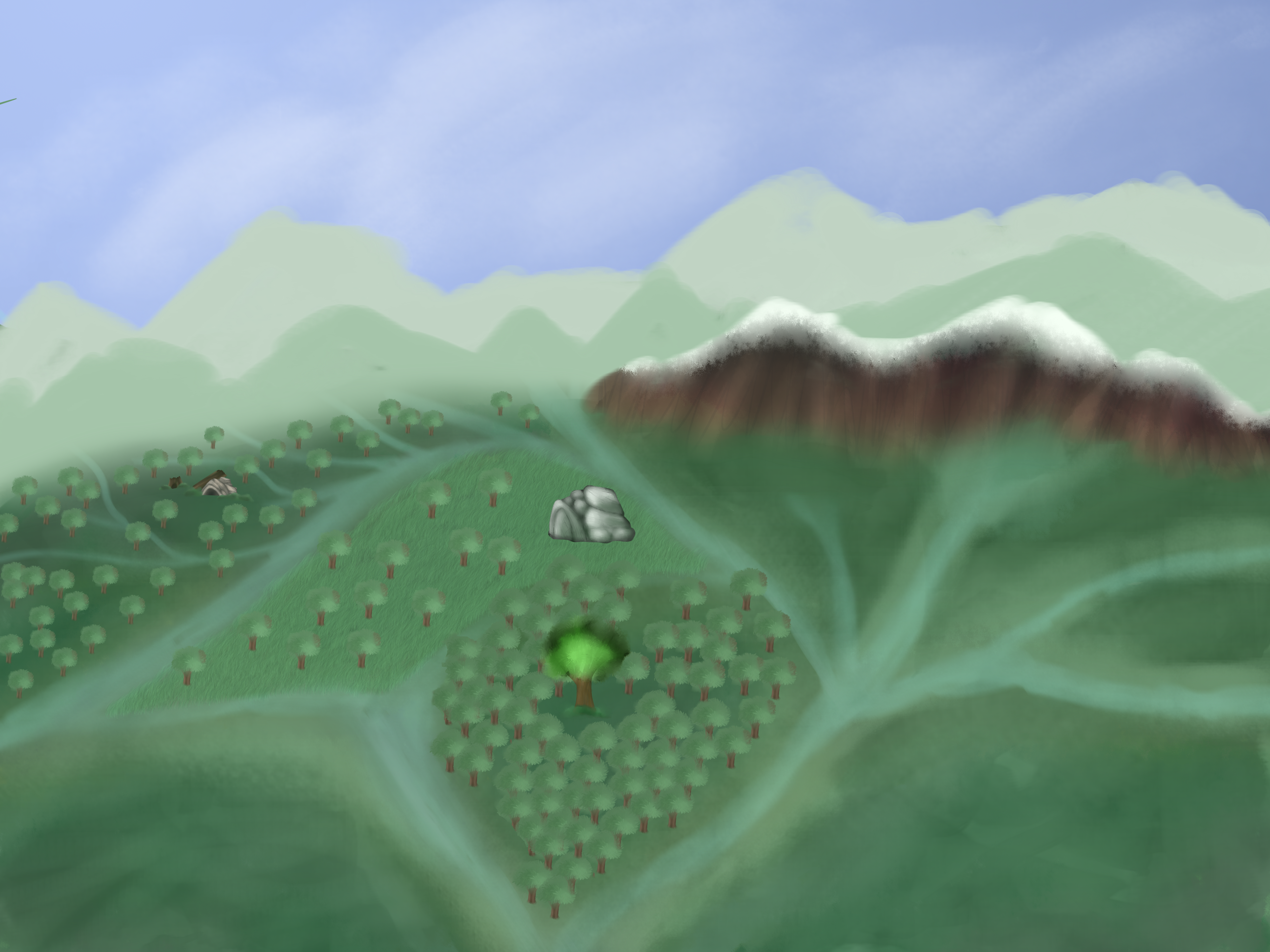 WIP-Novo mapa do bosque dos guerreiros by LULUVIP