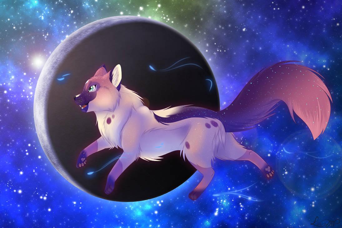 ArtTrade   SnexKyu  Nashira in the galaxy by LULUVIP