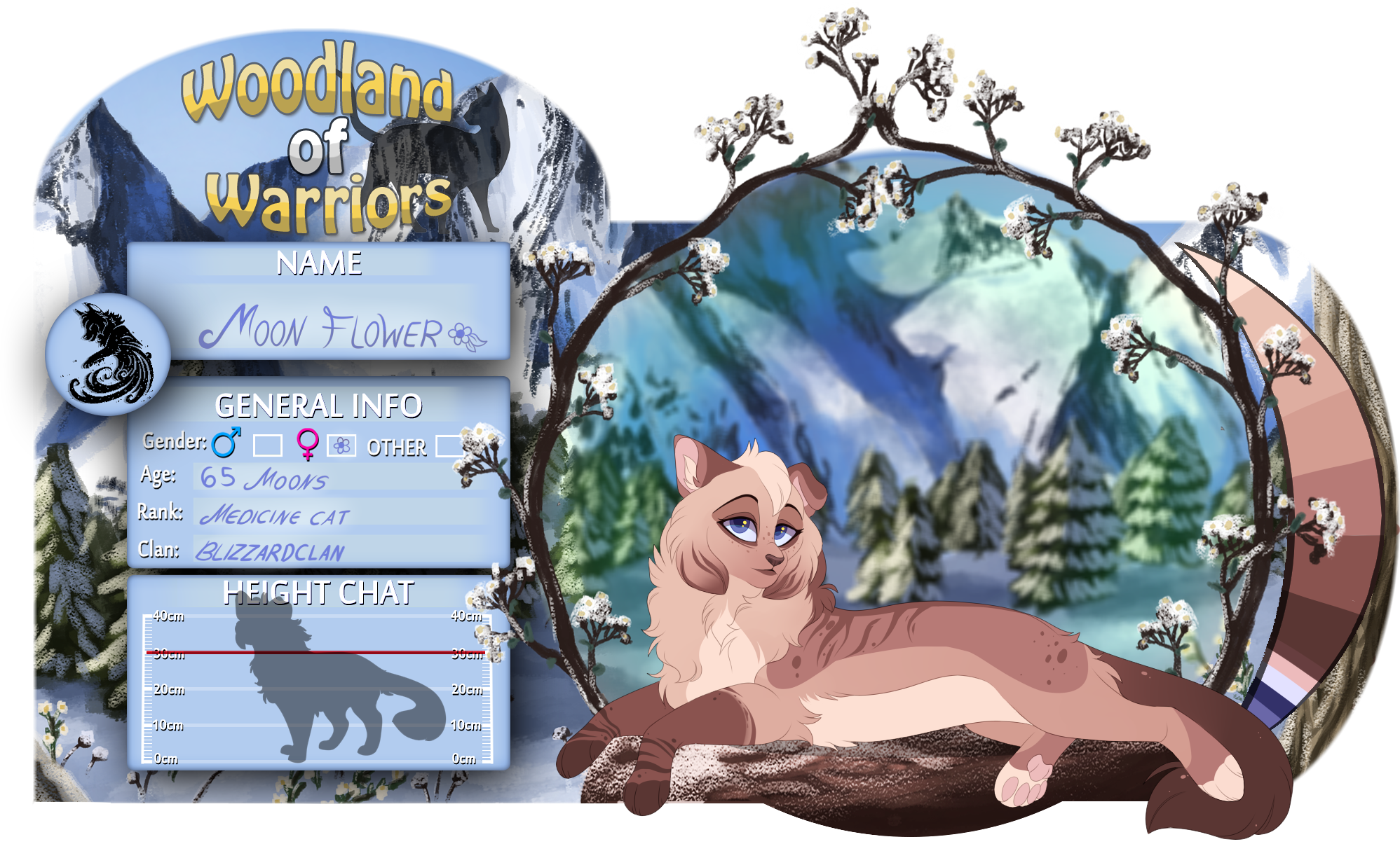 WoW| Moonflower |Medicine cat| Blizzardclan by LULUVIP