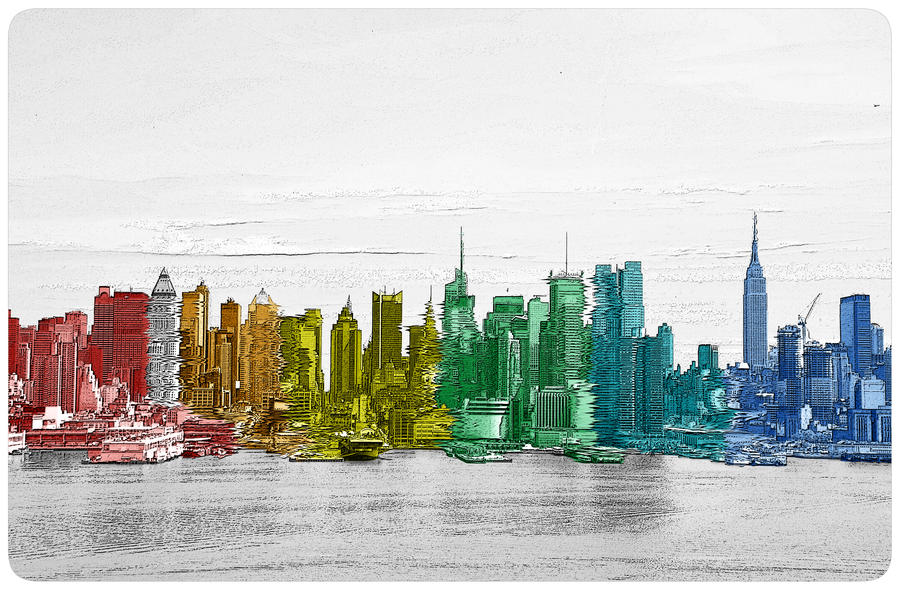 trippy skyline by bornagainrider