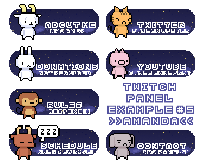 Twitch Panel Examples #5 by amandamarietory on DeviantArt