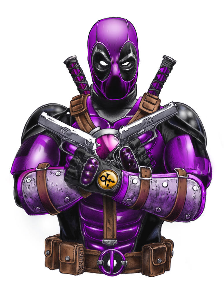 Deadpool Purple Rain by MichaelCrutchfield