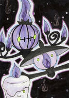 ACEO: Chandelure evoline by SabrieI