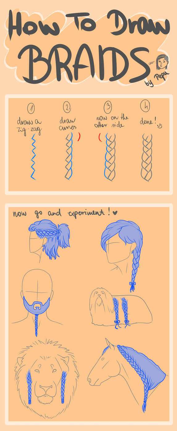 How To Draw Braids - Easy Tutorial
