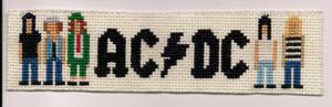 AC DC Bookmark X-Stitch