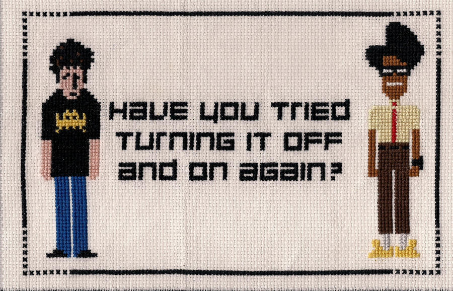 The IT Crowd X-Stitch by Shellfx