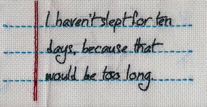 Mitch Hedberg Quote X-Stitch by Shellfx