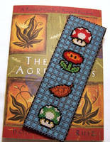 Mario Items Bookmark X-Stitch by Shellfx