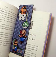 Super Mario Bookmark X-Stitch by Shellfx