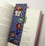 Super Mario Bookmark X-Stitch