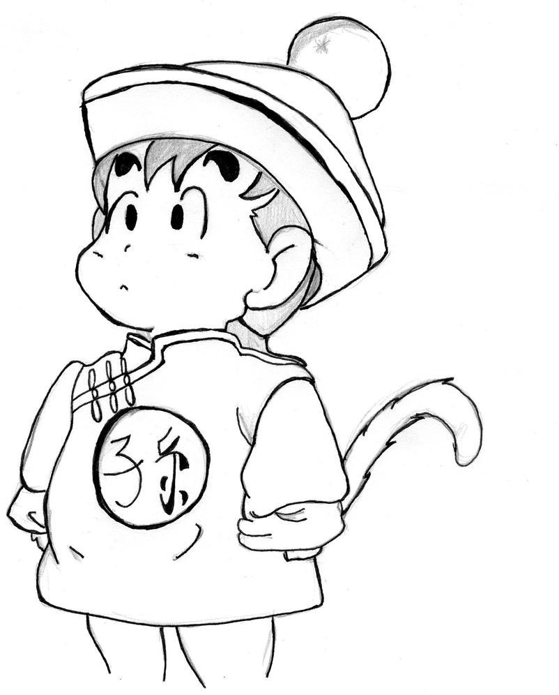 Gohan kid drawing