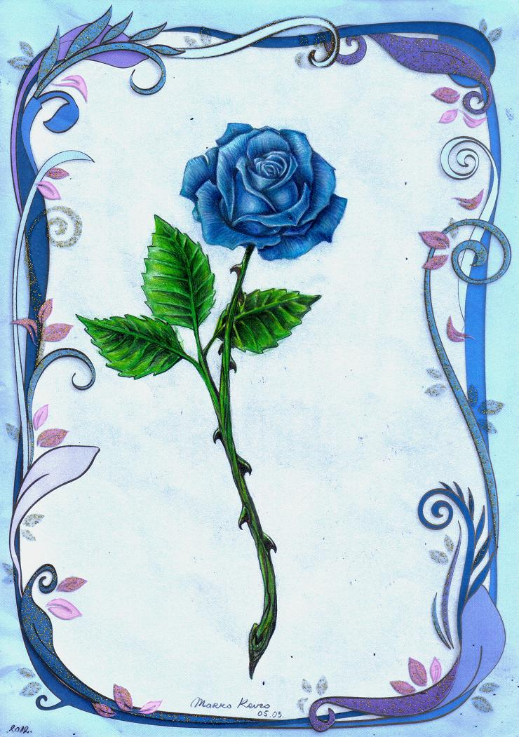 Enchanted Rose Drawing: Blue By Markostop On DeviantArt