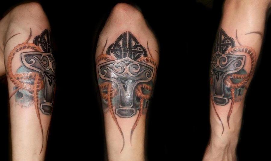 mjolnir tattoo by markostop on deviantart. Black Bedroom Furniture Sets. Home Design Ideas