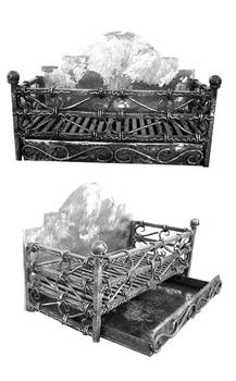 Traditional wrought iron fire