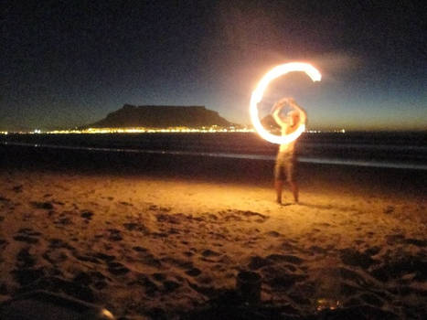 Fire Poi Cape Town by shanti1971