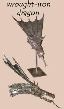 wrought iron dragon head